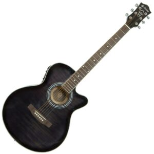 Chord CMJ4CE Electro-Acoustic Guitar - Black