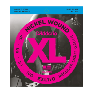 D'Addario EXL170 Nickel Wound Bass Guitar Strings - Light - 45-100