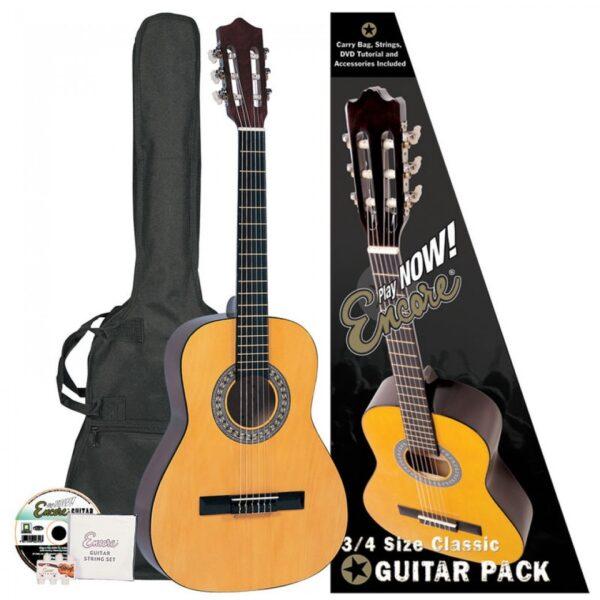 Encore 3/4 Size Classic Guitar Outfit