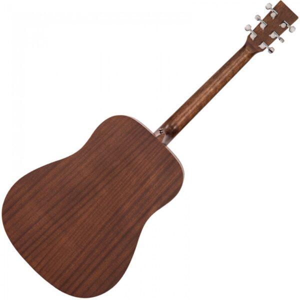 Vintage V440WK Paul Brett Statesboro' Dreadnought Acoustic Guitar - Back