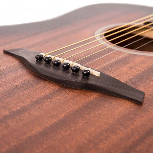 Vintage V440WK Paul Brett Statesboro' Dreadnought Acoustic Guitar - Bridge