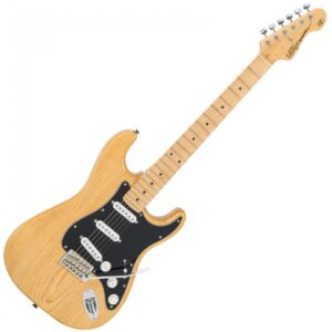 Vintage V6MNAT Reissued Electric Guitar - Natural Ash - Front