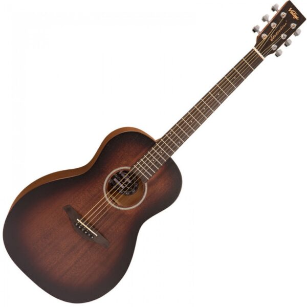 Vintage V880WK Paul Brett Statesboro' Parlour Acoustic Guitar - Front