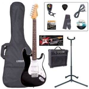 Encore E6 Electric Guitar Pack - Gloss Black