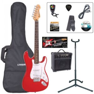 Encore E6 Electric Guitar Pack - Gloss Red