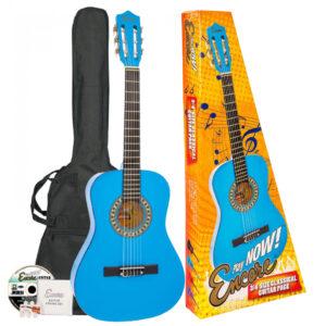 Encore 3/4 Size Classical Guitar Pack - Blue