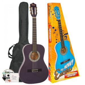Encore 3/4 Size Classical Guitar Pack - Purple