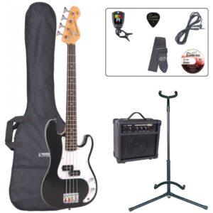 Encore E20 7/8 Bass Guitar Pack - Black