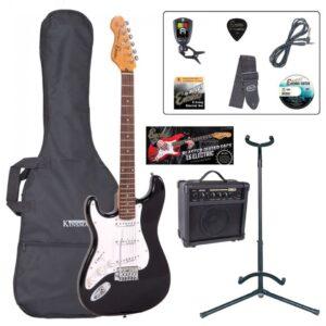 Encore E6 Electric Guitar Pack - Left Handed Gloss Black