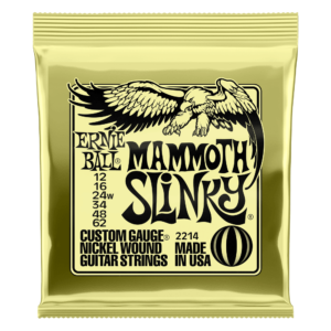 Ernie Ball Mammoth Slinky Nickel Wound Electric Guitar Strings - Front