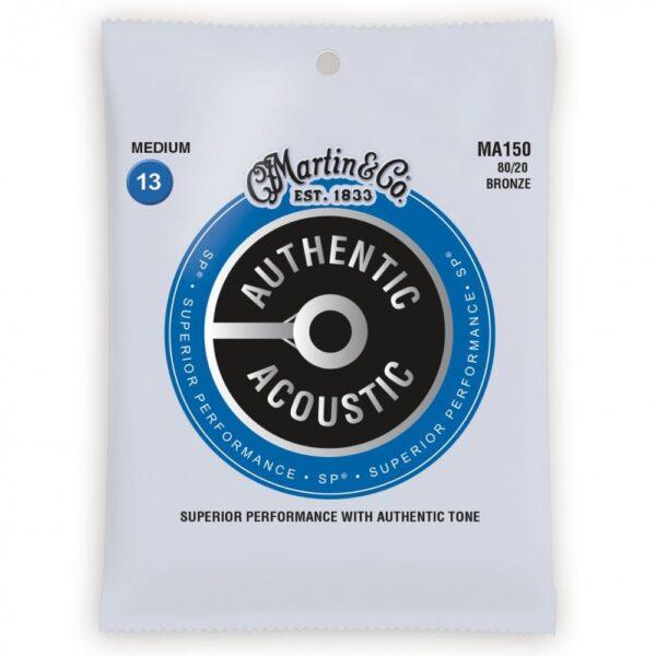 Martin MA150 80/20 Bronze Acoustic Guitar Strings – Medium – 13-56