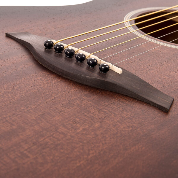 Vintage V880WK Paul Brett Statesboro' Parlour Acoustic Guitar - Bridge