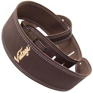 Vintage Leather Guitar Strap - Brown