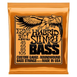 Ernie Ball Hybrid Slinky Nickel Wound Electric Bass Guitars Strings - 45-105