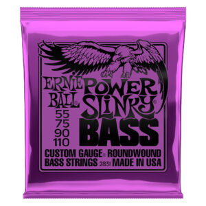 Ernie Ball Power Slinky Bass Guitar Strings – 55-110
