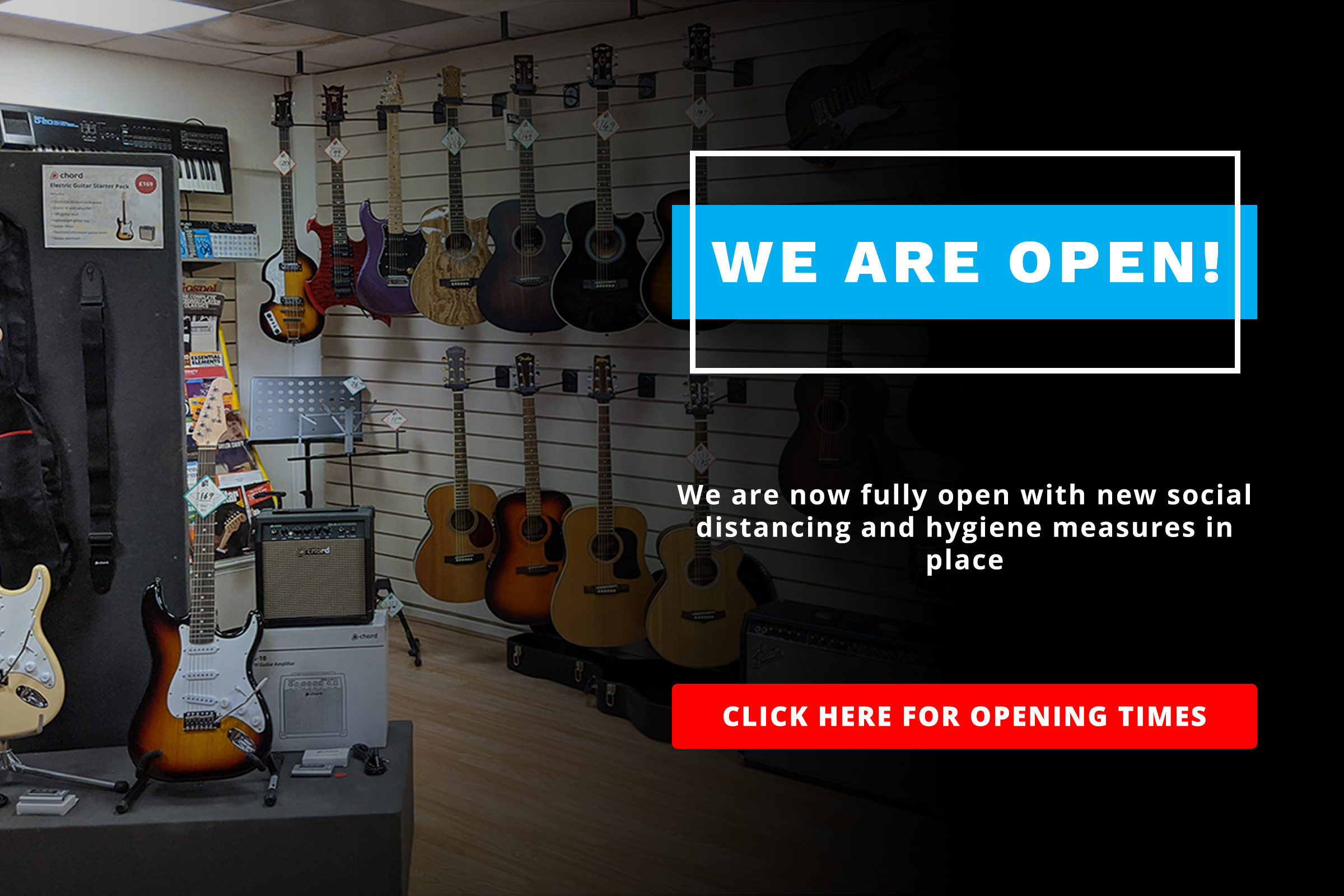We are open! Click here for opening times.