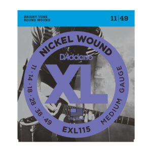 D'Addario EXL115 Electric Guitar Strings - Medium - 11-49 - Front