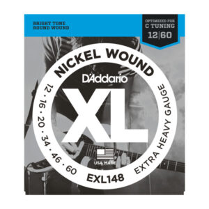 D'Addario EXL148 Electric Guitar Strings - Extra Heavy - 12-60 - Front