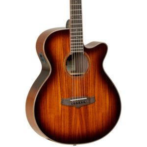 Tanglewood TW4 E KOA Electro-Acoustic Guitar - Body