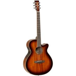 Tanglewood TW4 E KOA Electro-Acoustic Guitar - Front