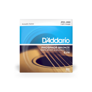 D'Addario EJ16 Phosphor Bronze Acoustic Guitar Strings - Light - 12-53