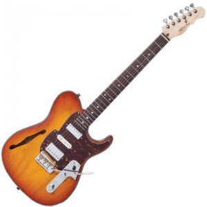 Fret-King Country Squire Semitone De Luxe Electric Guitar - Honeyburst