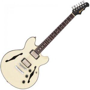 Fret-King Elise Semi-Acoustic Guitar - Vintage White