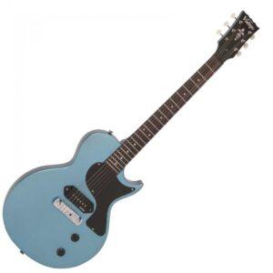 Vintage V120GHB Reissued Electric Guitar - Gun Hill Blue