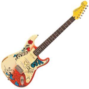 Vintage V6MRHDX Thomas Blug Signature Electric Guitar - Summer of Love