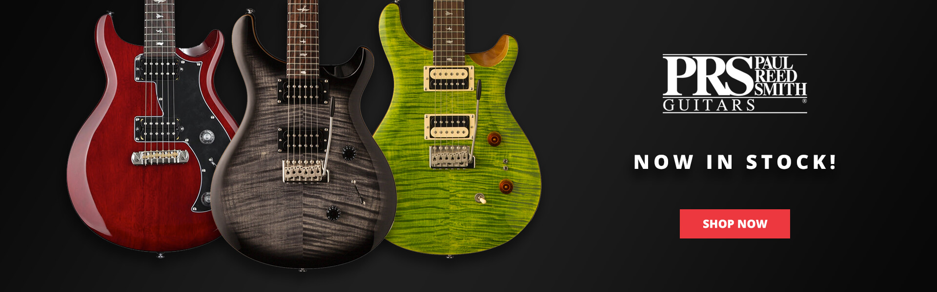 PRS Guitars - now available at Zebra Muzik!